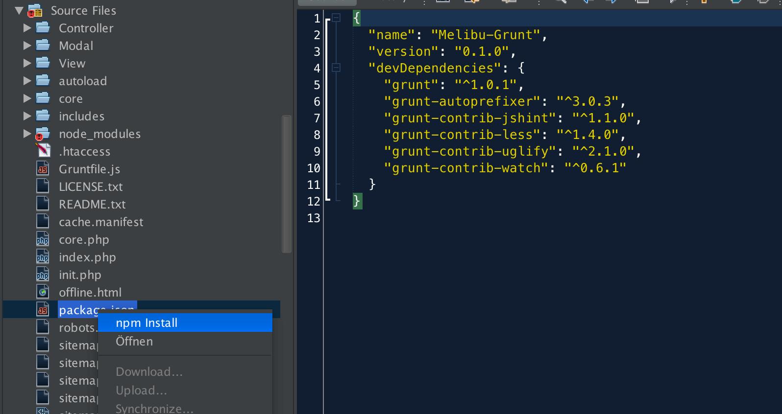 Netbeans IDE Editor and Grunt JS | tnado